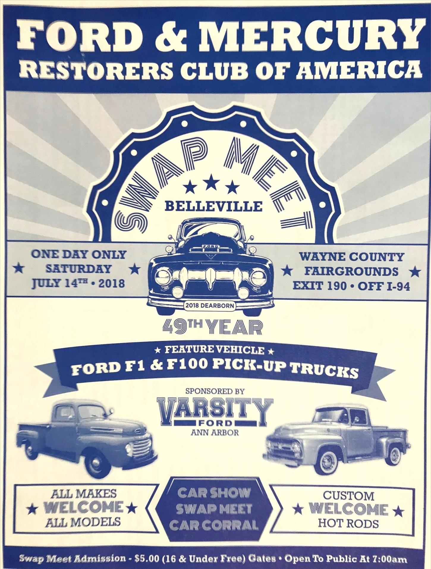 ford mercury restorers club swap meet